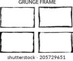 set of grunge frames | Shutterstock .eps vector #205729651