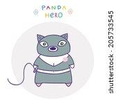 funny character   the hero...   Shutterstock .eps vector #205733545