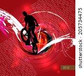 bmx. sport vector illustration   Shutterstock .eps vector #205734475