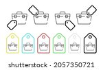 toolbox vector icon in tag set...