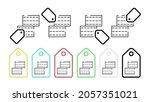 two bricks vector icon in tag...