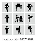delivery design over  white... | Shutterstock .eps vector #205735207