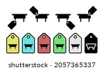 table glyph vector icon in tag...