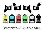 children's bed glyph vector...
