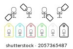 swivel chair vector icon in tag ...