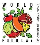world food day theme design   Shutterstock .eps vector #2057370434