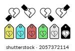 heart outline vector icon in...