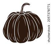 sugar pumpkin silhouette....   Shutterstock .eps vector #2057378771