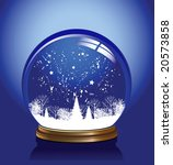 snow globe in blue color ... | Shutterstock . vector #20573858