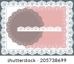 set of round  square lace frame | Shutterstock .eps vector #205738699