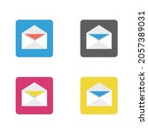 email icon   email on a colored ...