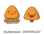 cute samosa cartoon mascot ...   Shutterstock .eps vector #2057391227