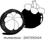 this is a mangosteen fruit...   Shutterstock .eps vector #2057392424