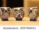 Three Little Owls For Decoration