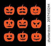 set halloween pumpkin ...   Shutterstock .eps vector #2057410244
