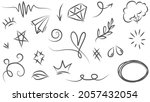 abstract arrows  ribbons ... | Shutterstock .eps vector #2057432054