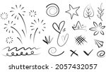 abstract arrows  ribbons ... | Shutterstock .eps vector #2057432057
