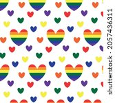 seamless pattern with hearts in ... | Shutterstock .eps vector #2057436311