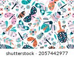 animals background  abstract... | Shutterstock .eps vector #2057442977