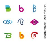 set of letter b logo icons...