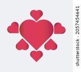 love illustration vector. hand... | Shutterstock .eps vector #2057454641
