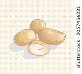 vector illustration of potato...   Shutterstock .eps vector #2057456231