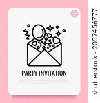 party invitation  envelope with ... | Shutterstock .eps vector #2057456777