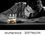 alcoholic drunk and wasted but... | Shutterstock . vector #205746154