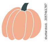 halloween pumpkin. hand drawn...   Shutterstock .eps vector #2057461787