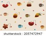 set shape of tea bags likes ... | Shutterstock .eps vector #2057472947