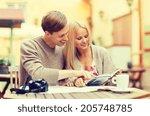 summer holidays  dating  city... | Shutterstock . vector #205748785