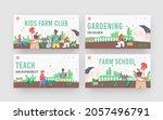 kids farming landing page...   Shutterstock .eps vector #2057496791