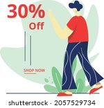 sale  30  off concept  perfect ... | Shutterstock .eps vector #2057529734
