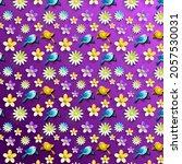 abstract cute birds pattern... | Shutterstock .eps vector #2057530031