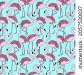 abstract cute birds pattern... | Shutterstock .eps vector #2057530037
