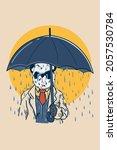 illustration of a sad panda... | Shutterstock .eps vector #2057530784