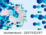 unicorn illustration for... | Shutterstock .eps vector #2057532197