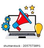 big loudspeaker to communicate... | Shutterstock .eps vector #2057573891