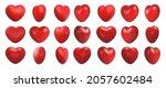 valentines day love symbol  3d... | Shutterstock .eps vector #2057602484