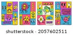mosaic trendy posters with... | Shutterstock .eps vector #2057602511