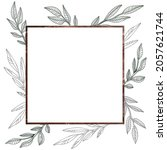 square frame with plants. the... | Shutterstock .eps vector #2057621744