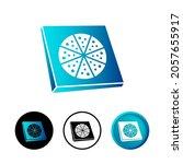 abstract pizza box icon...