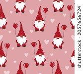 valentines day seamless pattern ... | Shutterstock .eps vector #2057656724