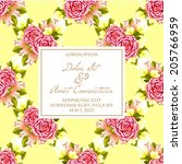 wedding invitation cards with... | Shutterstock .eps vector #205766959