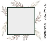 square frame with bronze plants.... | Shutterstock .eps vector #2057691947