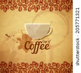 vintage coffee  background | Shutterstock .eps vector #205771321