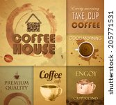 collection of vintage coffee... | Shutterstock .eps vector #205771531