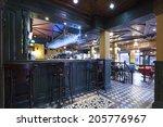 irish pub interior tiled floor | Shutterstock . vector #205776967