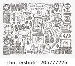 doodle internet web background | Shutterstock .eps vector #205777225