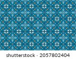 ikat geometric folklore... | Shutterstock .eps vector #2057802404